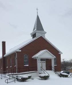 Muldraugh Baptist Church, Muldraugh, Kentucky, on a cold winter's Sunday.
