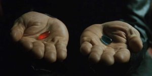 Neo's options - blue pill or red pill?