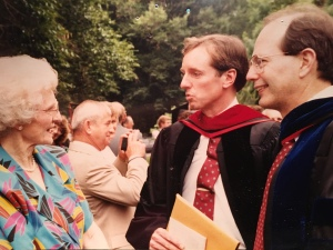 Andy joined me to greet my parents upon graduation with my Ph.D.  He was always extremely personable and warm.  I miss him.