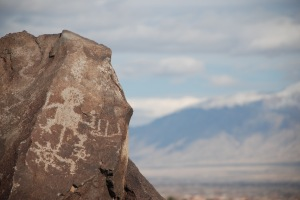 One of hundreds of petroglyphs just west of Albuquerque, New Mexico.