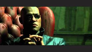 """Laurence Fishburne as """"Morpheus"""" in the 90's movie """"The Matrix."""""""